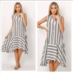 Dresses & Skirts - Denim blue & white sleeveless dress